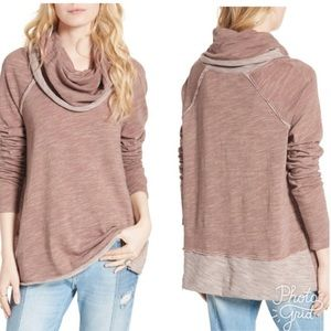 3/$30🌻Free People Beach Cowl Neck Tunic Pullover